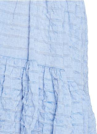 Detail View - Click To Enlarge - Lisa Marie Fernandez - Crinkle tiered babydoll dress