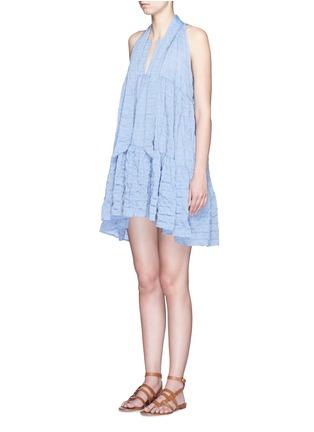 Figure View - Click To Enlarge - Lisa Marie Fernandez - Crinkle tiered babydoll dress