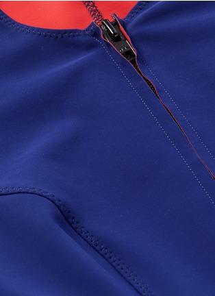 Detail View - Click To Enlarge - Lisa Marie Fernandez - 'Farah' neoprene zip swimsuit