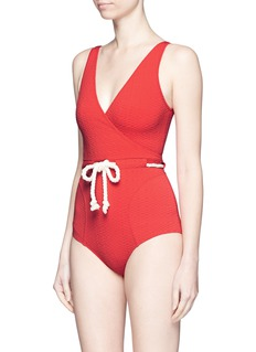 LISA MARIE FERNANDEZ'Yasmin' drawstring waist pucker swimsuit