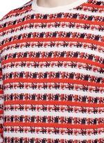 Pixelated stripe jacquard sweater