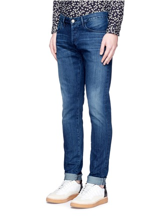 Front View - Click To Enlarge - 3x1 - 'M5' selvedge denim slim fit jeans