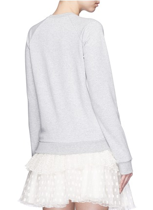 Back View - Click To Enlarge - Giamba - Sequin hand embroidery cotton sweatshirt