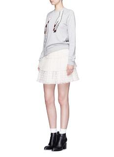 GIAMBASequin hand embroidery cotton sweatshirt