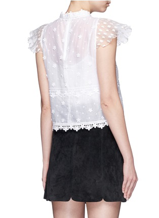 Back View - Click To Enlarge - Giamba - Hand embroidery guipure floral lace top
