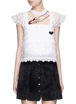 Hand embroidery guipure floral lace top