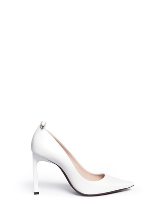 Main View - Click To Enlarge - Lanvin - Faux pearl Spazzolato leather pumps