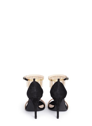 Back View - Click To Enlarge - Lanvin - Curb chain fringe suede sandals