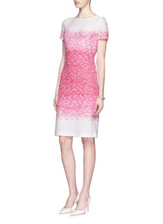 ST. JOHN 'Papillons' ombré tweed knit sheath dress