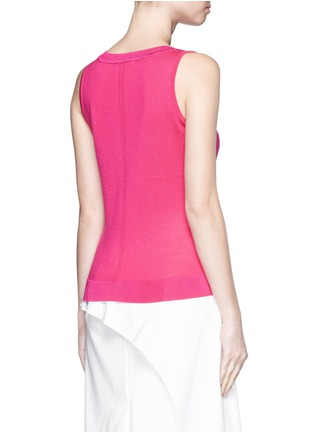 Back View - Click To Enlarge - ST. JOHN - Wool-silk knit tank top