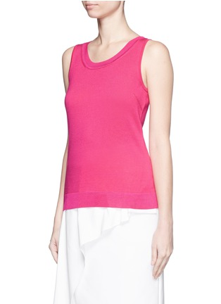 Front View - Click To Enlarge - ST. JOHN - Wool-silk knit tank top