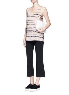 VINCEShadow Stripe silk racerback camisole