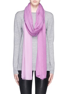 JANAVISilk chiffon panel cashmere scarf