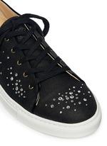 'Bejewelled' rhinestone linen sneakers