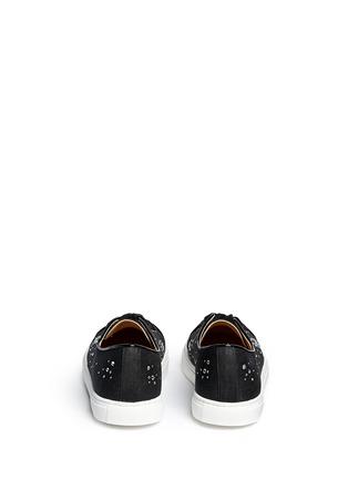 背面 - 点击放大 - CHARLOTTE OLYMPIA - BEJEWELLED仿水晶亚麻球鞋