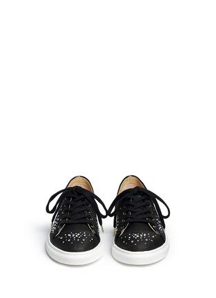 正面 -点击放大 - CHARLOTTE OLYMPIA - BEJEWELLED仿水晶亚麻球鞋