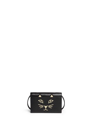 Main View - Click To Enlarge - Charlotte Olympia - 'Feline' leather crossbody bag