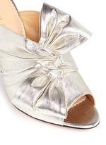 'Ilona' knot lamé mule sandals