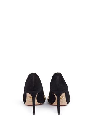 Back View - Click To Enlarge - Charlotte Olympia - 'Christine 95' suede d'Orsay sandals