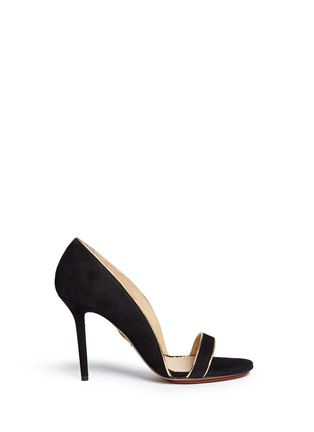 Main View - Click To Enlarge - Charlotte Olympia - 'Christine 95' suede d'Orsay sandals