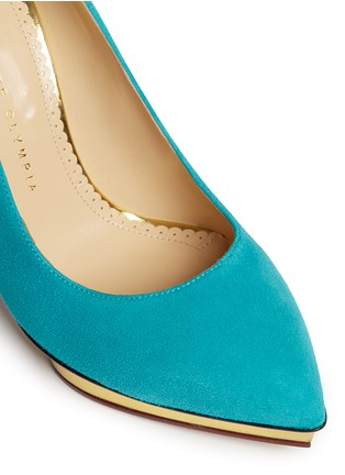 Detail View - Click To Enlarge - Charlotte Olympia - 'Debbie' suede pumps