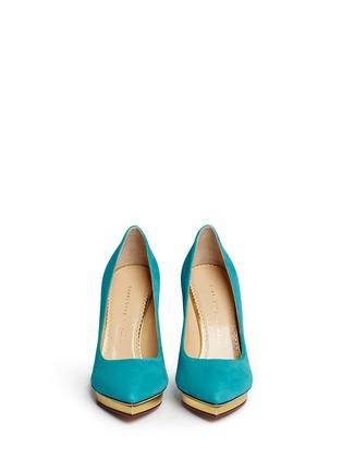 Front View - Click To Enlarge - Charlotte Olympia - 'Debbie' suede pumps