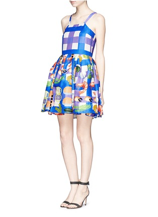 Front View - Click To Enlarge - Chictopia - Seafood plaid check dress