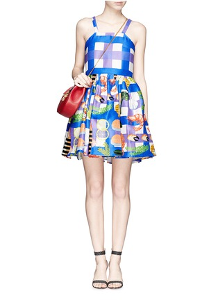 Figure View - Click To Enlarge - Chictopia - Seafood plaid check dress