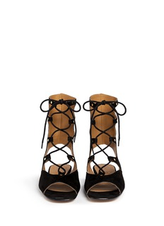 CHLOÉ 'Lettonia' lace-up suede gladiator sandals