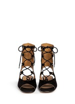 'Lettonia' lace-up suede gladiator sandals