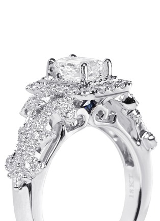 Detail View - Click To Enlarge - VERA WANG LOVE - East Meets West - Diamond Engagement Ring