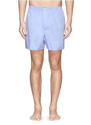 首图 - 点击放大 - ZIMMERLI - 细格纹纯棉平脚内裤