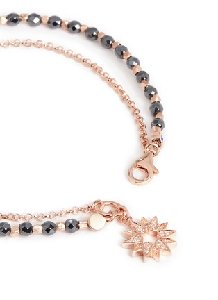 Detail View - Click To Enlarge - Astley Clarke - 'Sun' 18k rose gold hematite friendship bracelet - Revival & Light