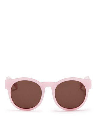 Main View - Click To Enlarge - BLANC & ECLARE - 'Shanghai' round acetate sunglasses