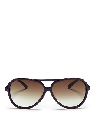 Main View - Click To Enlarge - BLANC & ECLARE - 'Hong Kong' acetate aviator sunglasses