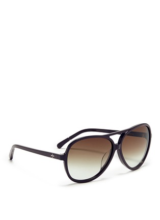 Figure View - Click To Enlarge - BLANC & ECLARE - 'Hong Kong' acetate aviator sunglasses