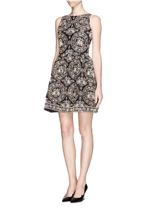 Front View - Click To Enlarge - alice + olivia - 'Lillyanne' bead embroidery shift dress