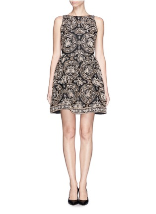 Main View - Click To Enlarge - alice + olivia - 'Lillyanne' bead embroidery shift dress