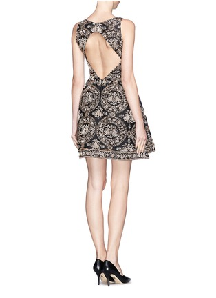 Figure View - Click To Enlarge - alice + olivia - 'Lillyanne' bead embroidery shift dress