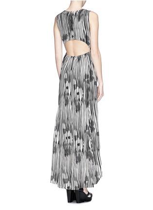 Figure View - Click To Enlarge - alice + olivia - 'Lexa' woodgrain print chiffon maxi dress