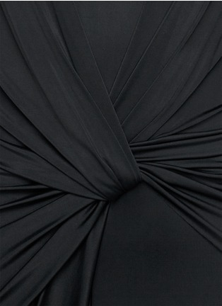 Detail View - Click To Enlarge - Alexander Wang  - Front twist stretch crepe satin dress