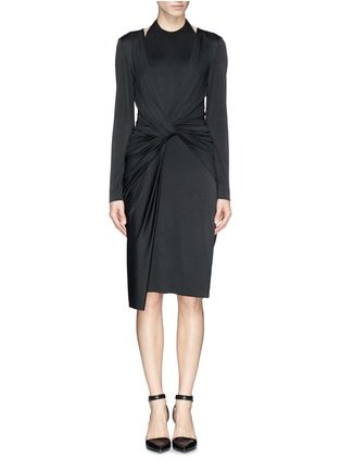 Main View - Click To Enlarge - Alexander Wang  - Front twist stretch crepe satin dress