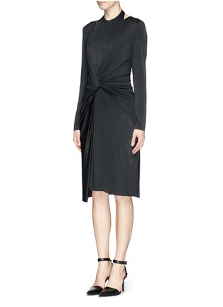 Figure View - Click To Enlarge - Alexander Wang  - Front twist stretch crepe satin dress