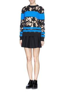 ALEXANDER WANG Contrast stripe mesh burnout sweater