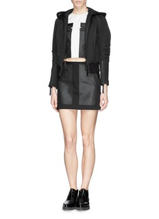 ALEXANDER WANG  Matte coated patch cropped top