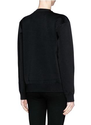 Back View - Click To Enlarge - Alexander Wang  - Barcode logo bonded knit sweatshirt