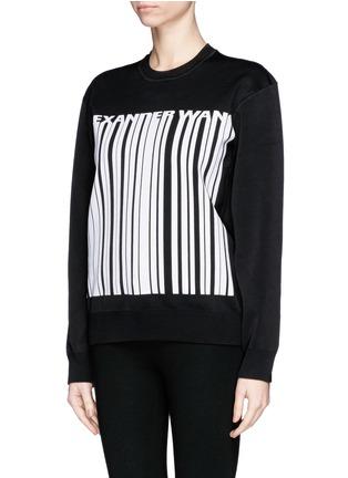 Front View - Click To Enlarge - Alexander Wang  - Barcode logo bonded knit sweatshirt