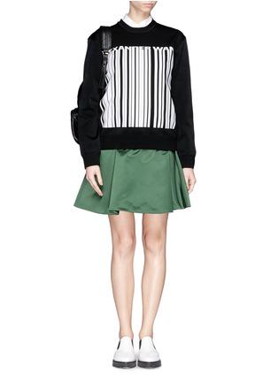 Figure View - Click To Enlarge - Alexander Wang  - Barcode logo bonded knit sweatshirt