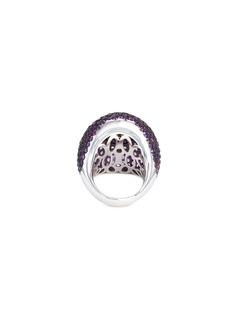 Roberto Coin Diamond amethyst jade 18k gold ring