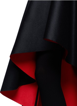 Detail View - Click To Enlarge - Alexander McQueen - Mandarin collar high-low dress